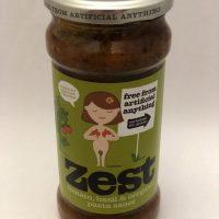 Zest tomato, basil and oregano pasta sauce