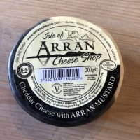 Isle of Arran Cheddar Cheese with mustard
