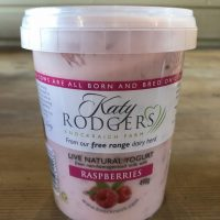Katy Rodgers Live Natural Yogurt with Raspberries