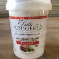 Katy Rodgers Live Natural Yogurt with Rhubarb