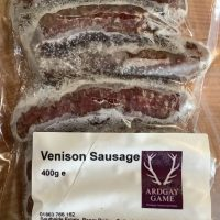 Ardgay Game Venison Sausages with cracked black pepper