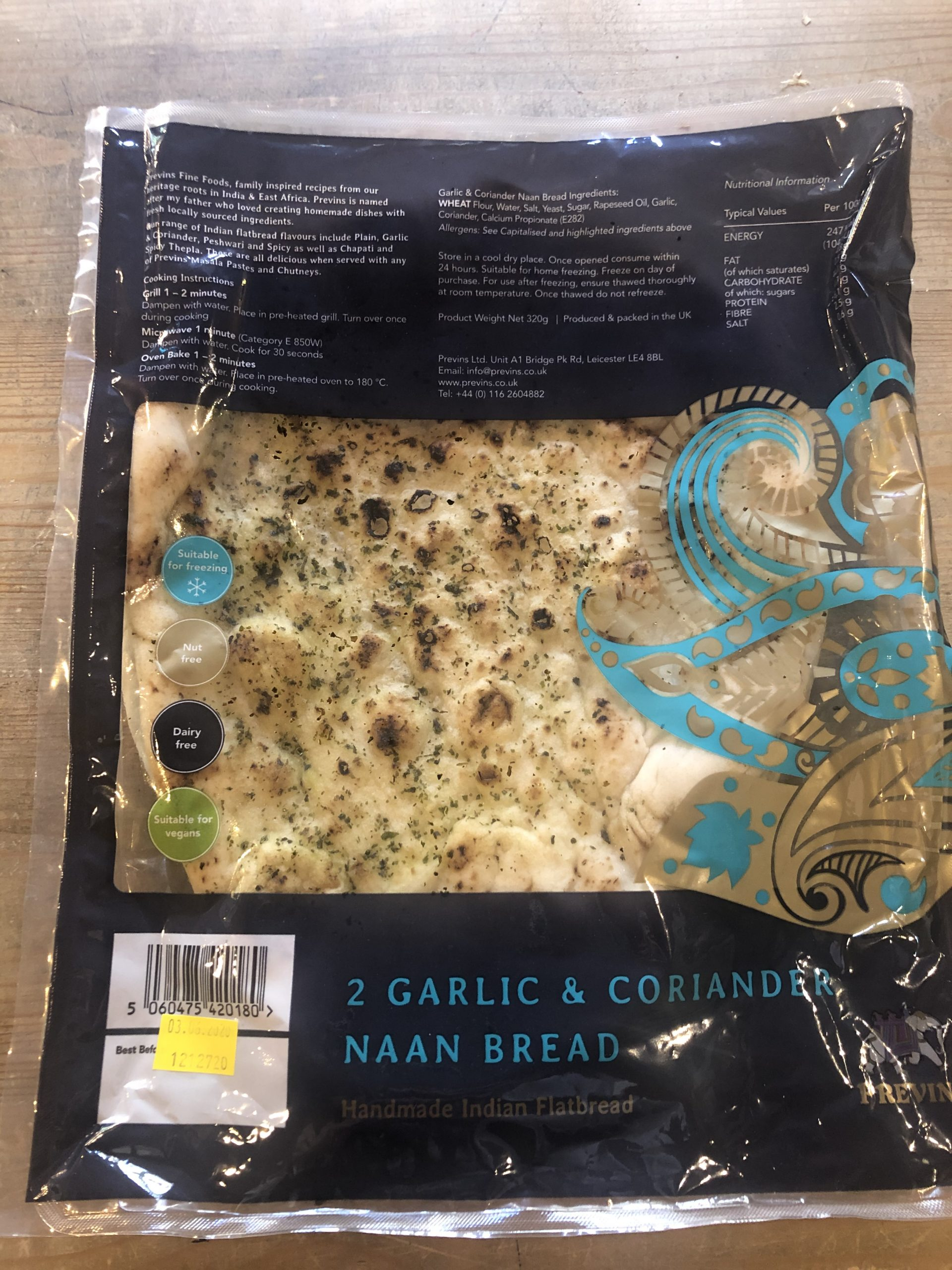 Garlic and Coriander naan (2)