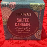 Coco Pzazz Salted Caramel Giant Buttons