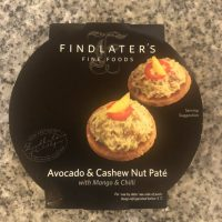 Avocado & Cashew Nut Pate with mango and chilli