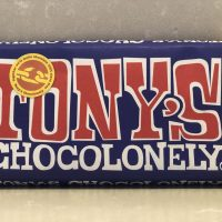 Tony Chocolonely Fairtrade Dark Chocolate pretzel toffee bar