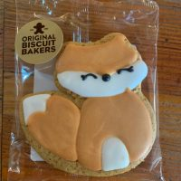 Iced Gingerbread Fox biscuit
