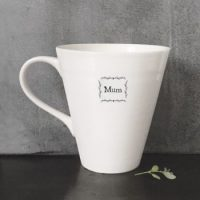 "Porcelain Conical ""Mum"" mug"