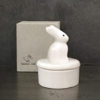 White Porcelain Bunny Pot