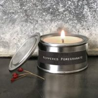 Peppered Pomegranate Tinned Candle